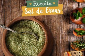 Uso Racional do Sal: Aprenda fazer o Sal de Ervas