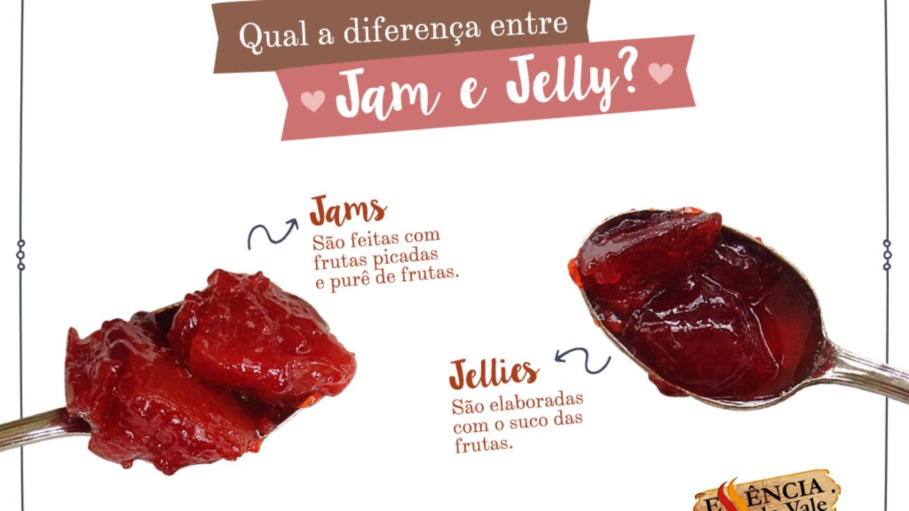 Qual a diferença entre Jam e Jelly?